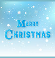 merry christmas snowy abstract background banner vector image