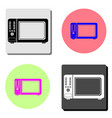 microwave flat icon vector image vector image