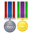 military style medals vector image vector image
