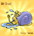 mr snail with failure vector image vector image