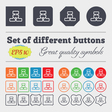 Network icon sign Big set of colorful diverse vector image