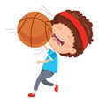 of kid hurting from ball accident vector image vector image