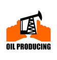 Oil production logo petroleum industry sign Logo vector image vector image