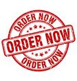 order now red grunge round vintage rubber stamp vector image vector image