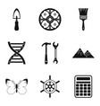 past icons set simple style vector image vector image