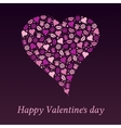 Postcard to the day of Valentine heart on a purple vector image vector image