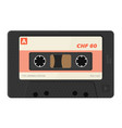 realistic audio cassettes vector image
