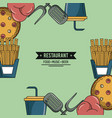 restaurant fast food concept vector image