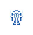 robotdroid line icon concept robotdroid flat vector image vector image