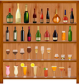 set different drinks vector image vector image