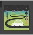 simple things - night drive vector image vector image