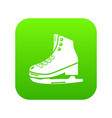 skates ice icon green vector image