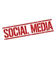 social media stamp vector image vector image