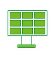 solar panel alternative ecological car battery vector image