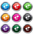 speech bubble on phone set 9 collection vector image vector image
