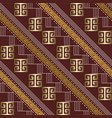 striped 3d greek key meander seamless pattern vector image