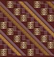 striped 3d greek key meander seamless pattern vector image vector image