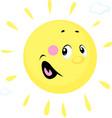 sun cute cartoon character vector image vector image