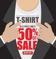 T-Shirt 50 Percent Sale vector image vector image