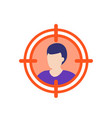 target audience icon flat vector image vector image