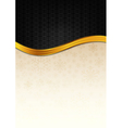 The black celebration paper with golden stripe vector image vector image