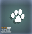 trace dogs icon symbol on the blue-green abstract vector image vector image