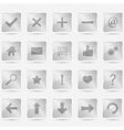 Transparent glass icons vector image