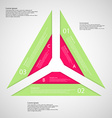 Triangle from three parts vector image vector image
