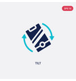 two color tilt icon from augmented reality vector image vector image