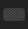 wall brick icon in flat style isolated on black vector image vector image