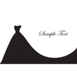 wedding dress silhouette banner blank template vector image vector image