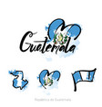 welcome to guatemala guatemala city card and vector image