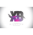 xd x d zebra texture letter logo design with vector image vector image