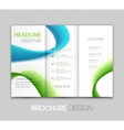 Abstract template design brochure page vector image