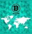 bitcoin logo icon design vector image