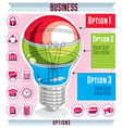 creative infographics concept layered light bulb vector image