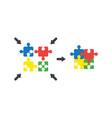flat design style concept of four part puzzle vector image