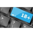 18 plus button on computer keyboard keys Keyboard vector image vector image