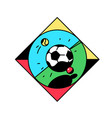 a square icon with a football icon sport vintage vector image
