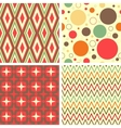 abstract geometric pattern set vector image vector image