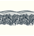 Abstract seamless lace pattern with flowers and vector image vector image