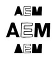 Aem - isolated hand drawn lettering vector image