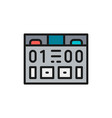 american football scoreboard game equipment flat vector image vector image