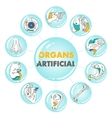 Artificial organs poster vector image vector image