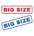 Big Size Rubber Stamps vector image vector image