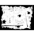 black and white grunge border vector image vector image