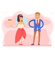 bride and groom on wedding day ceremony dance vector image vector image
