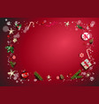 bright red holiday frame vector image vector image