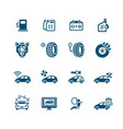 car service icons - micro series vector image