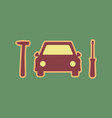car tire repair service sign cordovan vector image vector image